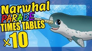 Narwhal Teaching Multiplication Times Tables x10 Educational Math Video for Kids