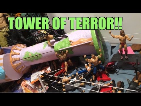 GTS WRESTLING: Terror Tower!! WWE Mattel Figure matches Animation! Elite Series Figures