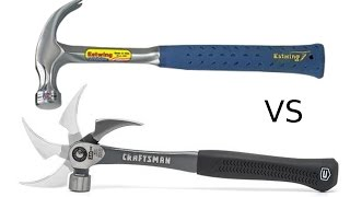 Craftsman's New Flex Claw Hammer vs 38 Year Old Estwing