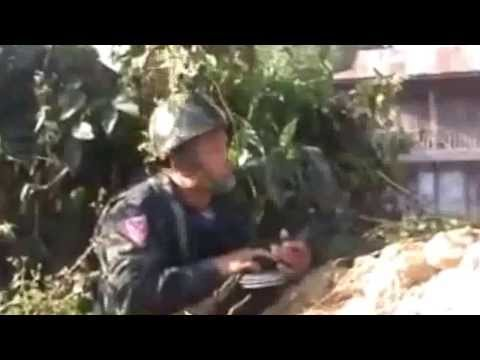 Myanmar Army and Kachin KIA Army Real Fighting 2013