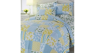 Jeffrey Banks Patchwork Reversible 3piece Quilt Set