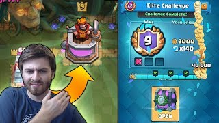 NEW ELIXIR TOWER SKINS!! BEST 9 WIN DOUBLE ELIXIR DECK! | Clash Royale NEW CHALLENGE CHEST OPENING