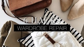6 wardrobe repair hacks you need to know! | Fix your wardrobe series