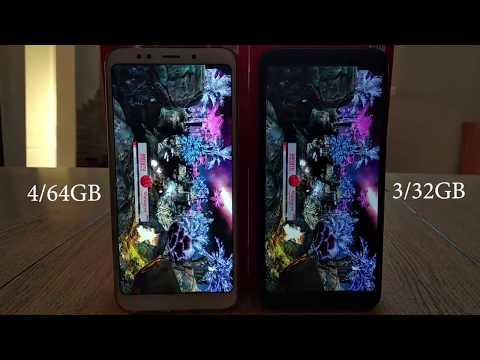 Redmi 5 plus 4/64gb vs 3/32gb, сравниваем скорость работы, тестируем.