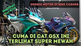 MODIFIKASI PAINTING 2 GSX-R150 DI BIKE CORNER  || GREBEK MOTOR 4