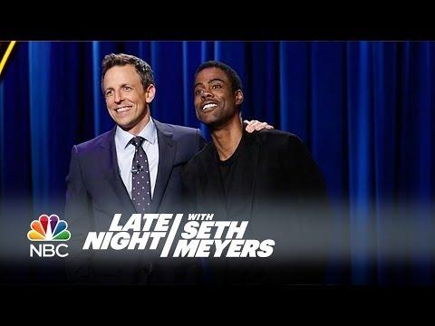 Chris Rock Crashes Seth's Monologue! - Late Night with Seth Meyers