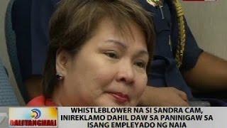 Whistleblower na si Sandra Cam, inireklamo dahil daw sa paninigaw sa isang empleyado ng NAIA
