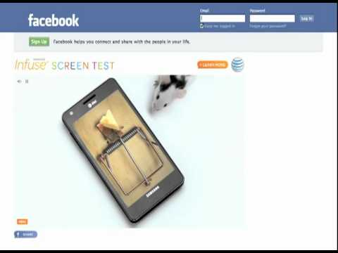 Samsung Infuse 4G Screen Test (BBDO New York)
