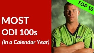 MOST ODI Hundreds in a Year | Sachin, Warner, Sanga, Kohli