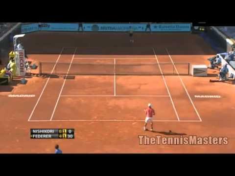 Kei Nishikori Vs Roger Federer Madrid 2013
