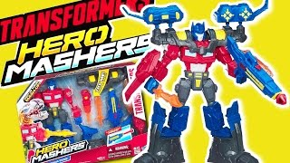 TRANSFORMERS TOYS ELECTRONIC OPTIMUS PRIME HERO MASHERS | UNBOXING & REVIEW 2017