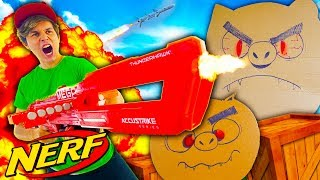 A SUPER BATALHA ÉPICA DOS PORCOMÔNIOS ☆ Nerf Mega Thunderhawk ☆