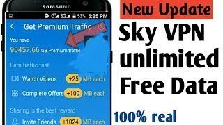How To Hack Sky VPN unlimited premium traffic MB 2019   100 % working