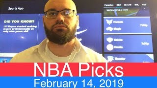NBA Picks (2-14-19) | Basketball Sports Betting Expert Predictions Video | Vegas | February 14, 2019