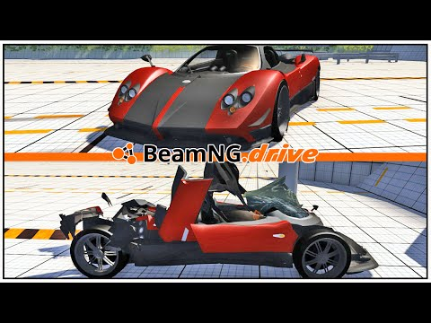 Pagani Zonda Cinque 2009. (BeamNG.drive Crash Testing #02)