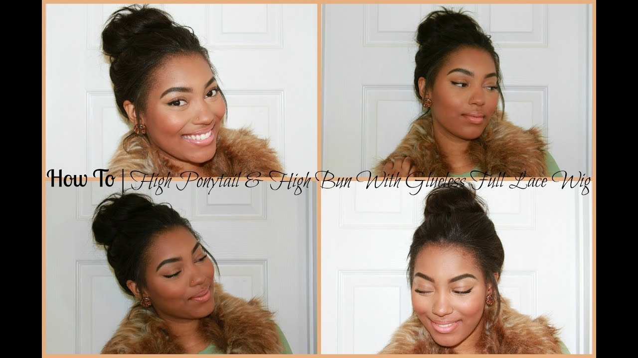 how to hold a ponytail with lacefront wig