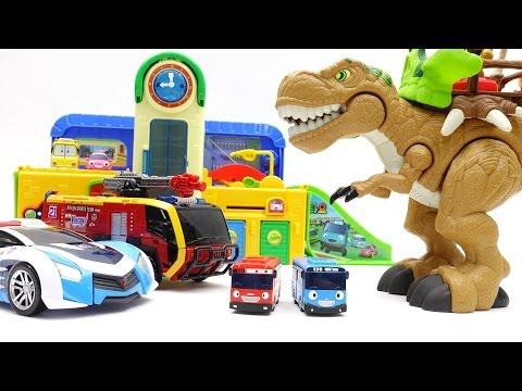 출동 애슬론 타요 학교에 공룡군단이 나타났어요!!  Go Go Athlon, Dinosaurs in Tayo The Little Bus School ~!
