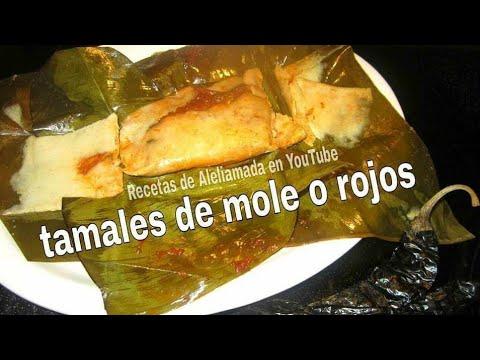 """RECETA DE TAMALES ESTILO OAXACAQUENOS - """"MOLE ROJO"""" aleliamada"""