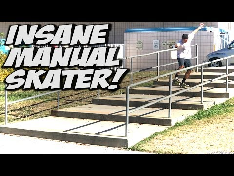 WORLDS BEST MANUAL SKATEBOARDER ??? - A DAY WITH NKA -