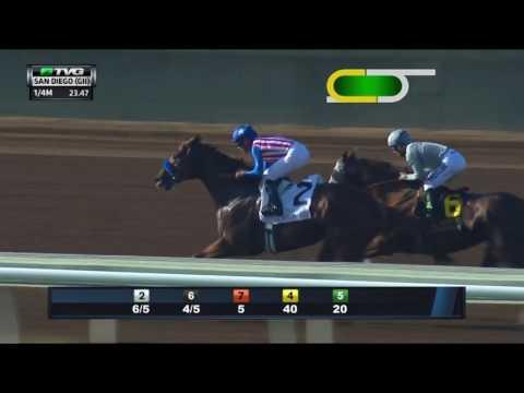 RACE REPLAY: 2016 San Diego Handicap Featuring California Chrome