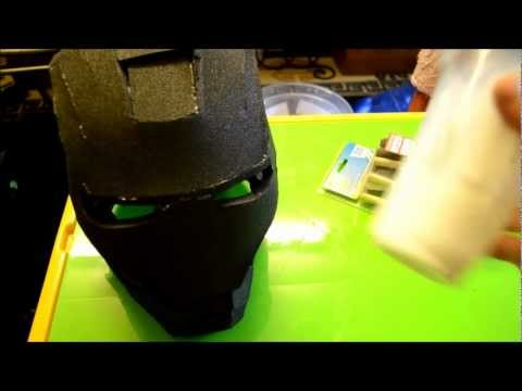 4 - (Sealing the foam. part 1) Foam Pepakura Iron Man Suit/Armor explanation