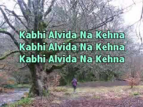 Kabhi Alvida Na Kabhi Alvida Na Kehna Indian Karaoke Music video