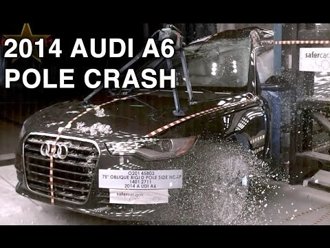 2014 Audi A6 | Pole Crash Test | CrashNet1