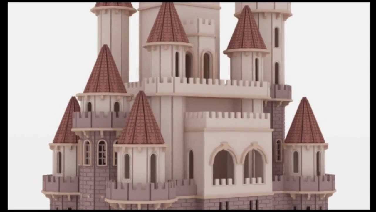Fantasy Castle Doll House Laser Cutting Plans Cnc Router