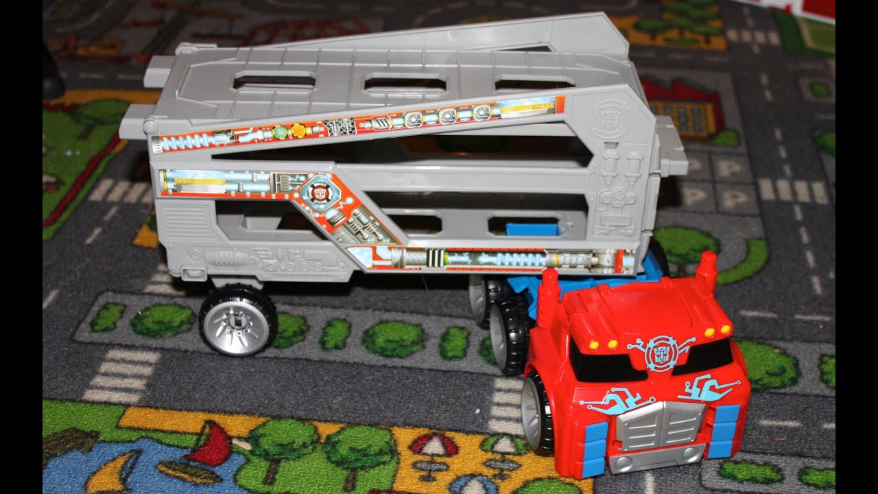 Rescue Bots Optimus Prime Toy Optimus Prime Toy With Trailer
