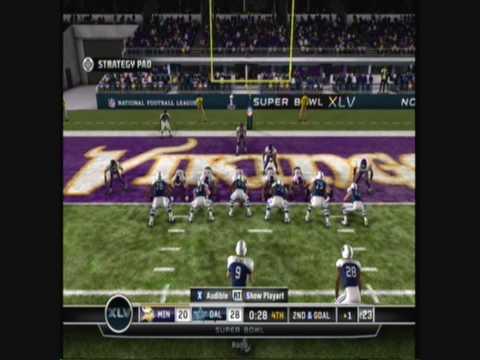 Madden 11 - Cowboys vs. Vikings (part 4) w/ Super Bowl Celebration & Obama!