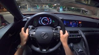 2019 Lexus LC 500 - POV Night Drive (Binaural Audio)