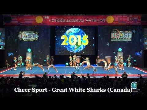 Cheer Sport Great White Sharks Finals Worlds 2015