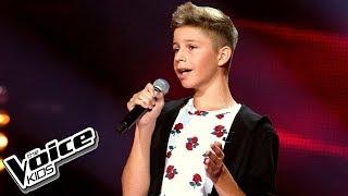 """Mateusz Golicki - """"Nic tu po mnie"""" - Przesłuchania w ciemno - The Voice Kids Poland 2"""