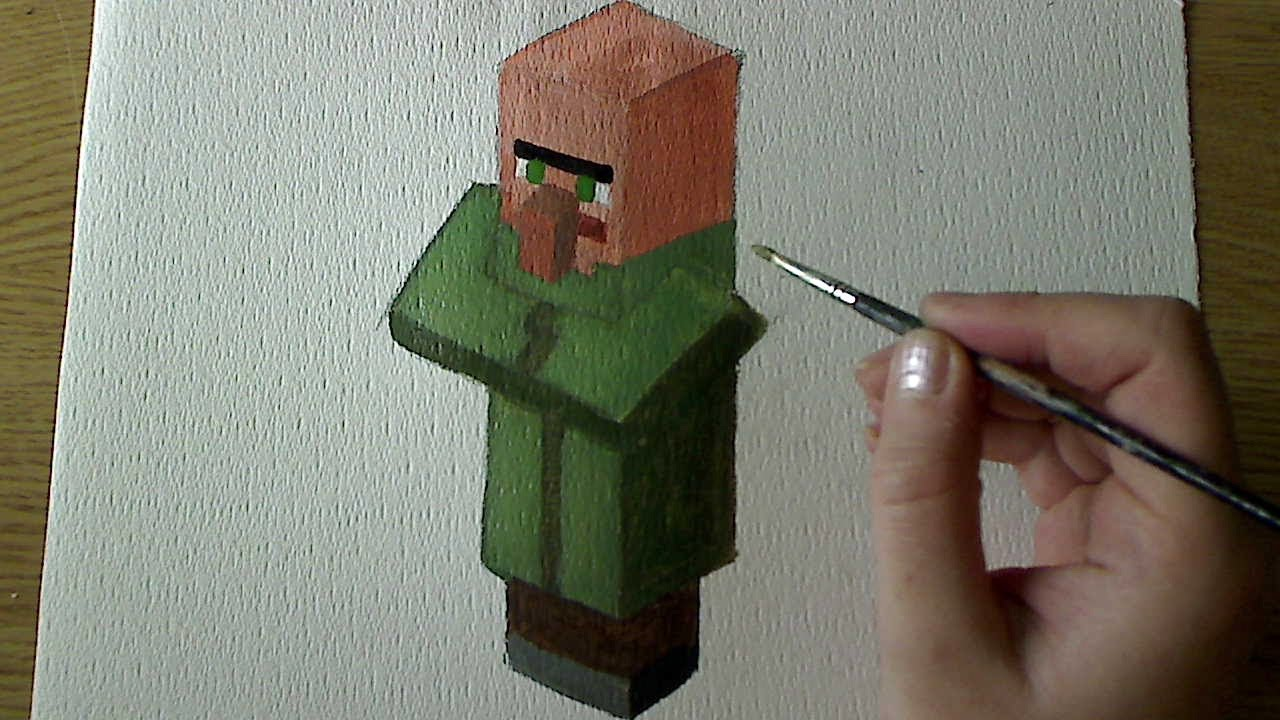 Minecraft Villager Head Costume How to paint villager -