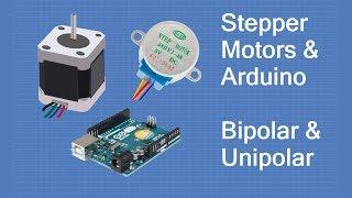 Stepper Motors with Arduino - Controlling Bipolar & Unipolar stepper motors