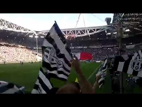 Juventus-Cagliari 1-1 09.05.2015 - FORMAZIONI, INNO e COREOGRAFIA