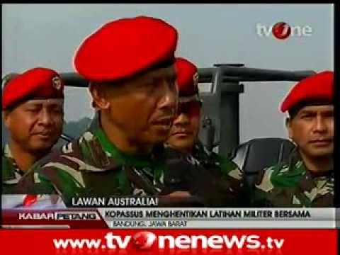 Kopassus Hentikan Latihan Militer Bersama Indonesia - Australia