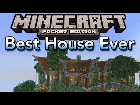 The Best House In Minecraft Pocket Edition (IMO) - Keralis Mountain House Remake