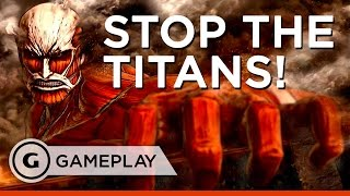 First Battle Single Player Gameplay - Attack on Titan: Wings of Freedom