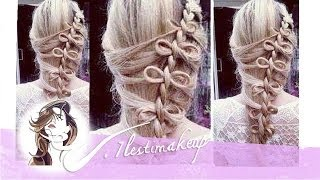 Trenza lateral con lazitos #braid