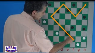 Uma partida espetacular entre dois grandes talentos do jogo de damas