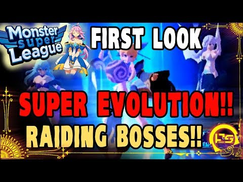 Monster Super League FIRST LOOK!! AT THE NEW UPDATE!! SUPER EVOLUTION MATERIALS!! CHLOE SO KAWAII!!