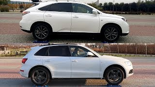 Lexus RX-350 3.5 V6 F-Sport AWD vs Audi Q5 2.0 TDI Quattro - 4x4 test on rollers