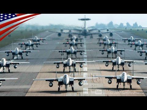 �嘉手��本気】米���事力を完全武装�F-15を並��見���る:沖縄・嘉手�基地(在日米�)