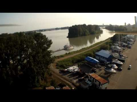 A nice view of the south channel of fraser river, Shelter Island Marina Vancouver BC