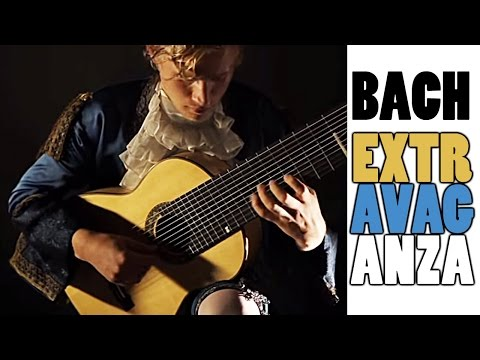 Marcus Strand - Tempo di Borea BWV 1002 (JS Bach) on 11-string guitar