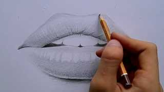Як малювати губи ( How to draw lips ) малюнок простим олівцем