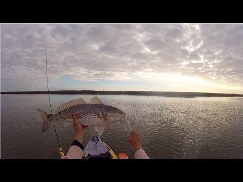Kayak Fishing East Galveston Bay.wmv