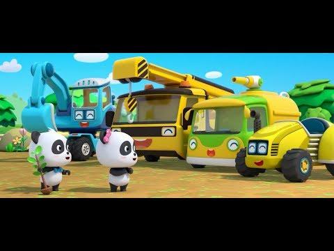 기중기 포크레인 사과심기|키키묘묘 사과 심어요~!|자동차 트랙터|베이비버스 인기동요|BabyBus