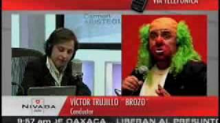 Carmen Aristegui entrevista a Brozo